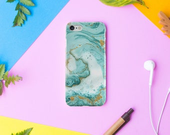 Mint Marble iPhone 8 Case iPhone 8 Plus Case iPhone 7 7 Plus Case iPhone 6 6s  iPhone X Case 5 5s SE Case Samsung Galaxy S9 S7 S8 case cover