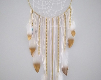Dream catcher. Gold plated.