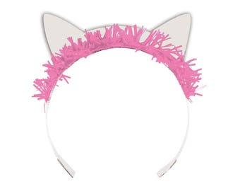 Pretty Kitty Birthday Party Hats/ Cat Birthday Party Tiara Hats/ Kitty Party Hats/ Cat Party