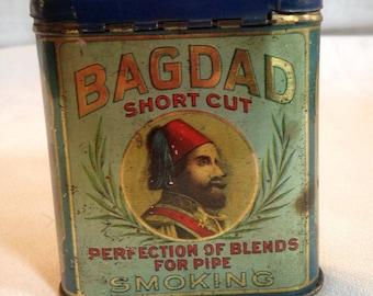 Bagdad short cut pipe tobacco tin
