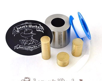 One .6 x .9 Swedish Wrap Kit for Quarter and Dime Sized Coins and the Smallest Possible Coin Rings and Coin Beads.