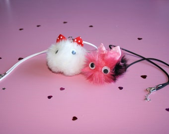 KAWAII Necklaces // Fluffy Cute Cyber Punk Pastel Goth