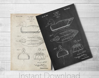 Duck Decoy Printables, Duck Hunting, Gifts for Hunters, Cabin Decor, PP0161
