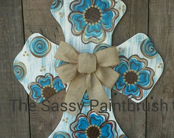 Cross door hanger, wall decor, door decor
