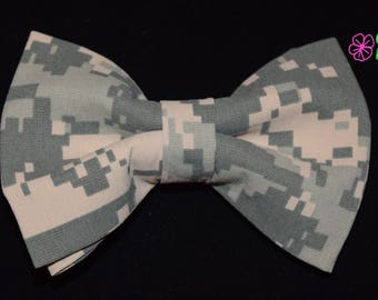 Military Camo Army ACU Clip On Bow Tie