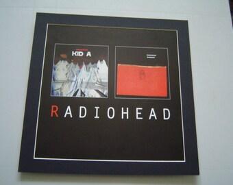 Radiohead Amnesiac  / Kid A Original  Poster in A Custom Made Mount Ready To Frame