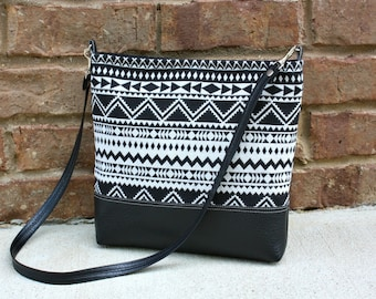 Southwestern Bag with Faux Leather Strap