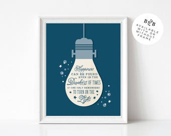 Harry Potter Quote 8x10 Poser Print   Dumbledore Quote Print   Happiness Quote   Home Decor   Harry Potter Wall Art   Inspirational Print