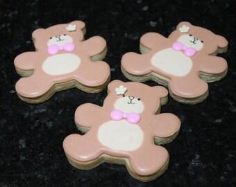 Teddy bear cookies 12 cookies