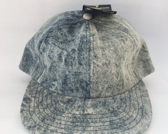 Deadstock Acid Wash Denim Baseball Hat NWT 1980s