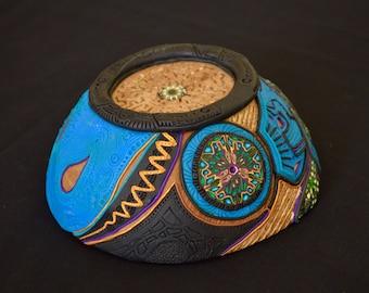 Jewelry shell, Art-deko, storage tray, handmade, unqiue