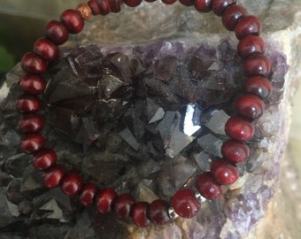 Redwood meditation bracelet