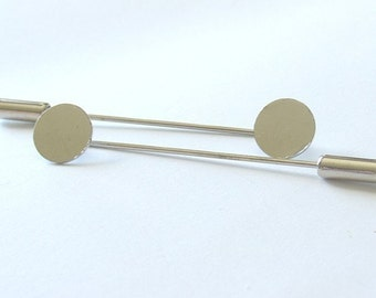 3 Inch Stick Pin With 6mm Pad - Nickel - 10 Pieces - 1249