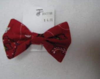 Custom Made UL Cardinals  Dog Bow Tie, Dog Collar, Pet Bow Tie, Cat Bow Tie, Rabbit Bow Tie, Pig Bow Tie