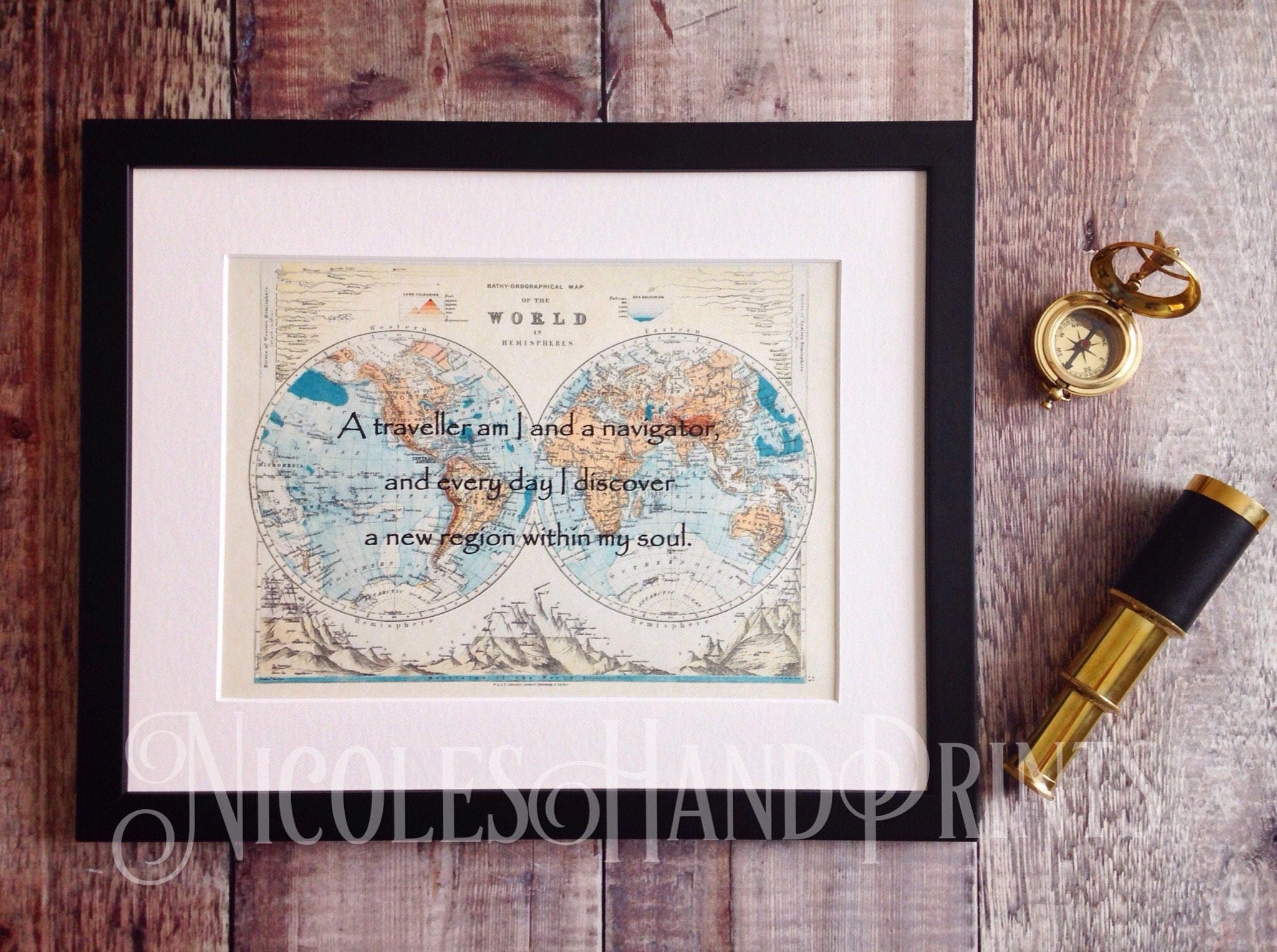 Old world map print khalil gibran quote philosophy gifts travel old world map print khalil gibran quote philosophy gifts travel gift beautiful quote custom map print gift for traveller personalised gumiabroncs Gallery