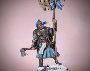 Painted VIKING WARRIOR 28mm miniature - Dungeons and Dragons ad&d roleplaying games