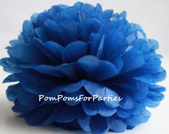 1 High Quality DARK BLUE Tissue Pom Pom - Choose any of 50 colours - Hanging  Paper flower - Tissue paper balls - Tissue paper pom poms