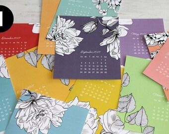 SALE: 2018 Desk Calendar Cards – NO EASEL – Choose Your Design