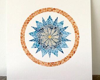 Gaudi Inspired Mandala