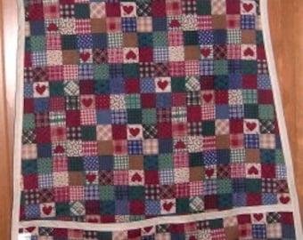 MadieBs Country Heart Homespun Look Smock Cobbler Apron