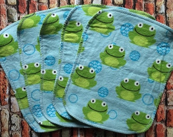 Frog Cloth Wipes, Flannel Wipes