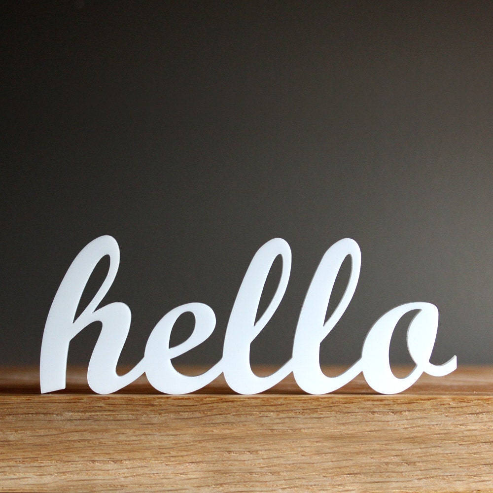 Office Foyer Signs : Hello acrylic sign for modern office entryway bedroom decor