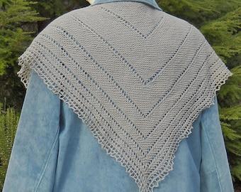 grey merino wool shawl scarf