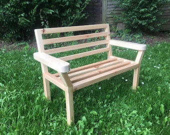 Kids Bench, Patio Wooden Bench, Outdoor, Wooden bench, Very strong