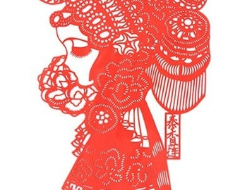 Tranditional Chinese Paper Cut Art-Famous people