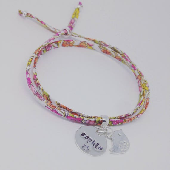 My 1st GriGri Liberty personalized with engraving to choose. Baby & child by Palilo bracelet