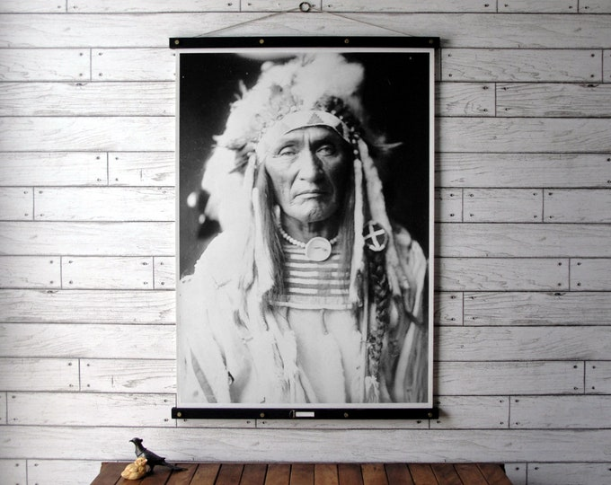 Native American Portrait  - Young Hairy Wolf