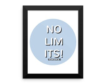 NO LIMITS pink! - Framed photo