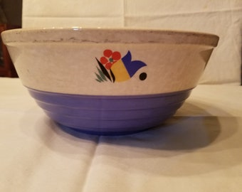 Stoneware Mixing Bowl with flowers