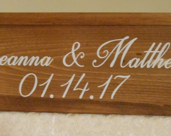 Personalized Rustic wedding cake stand, 16 x 16 x 6 cake stand/riser, custom wood cake stand, wooden wedding cake stand