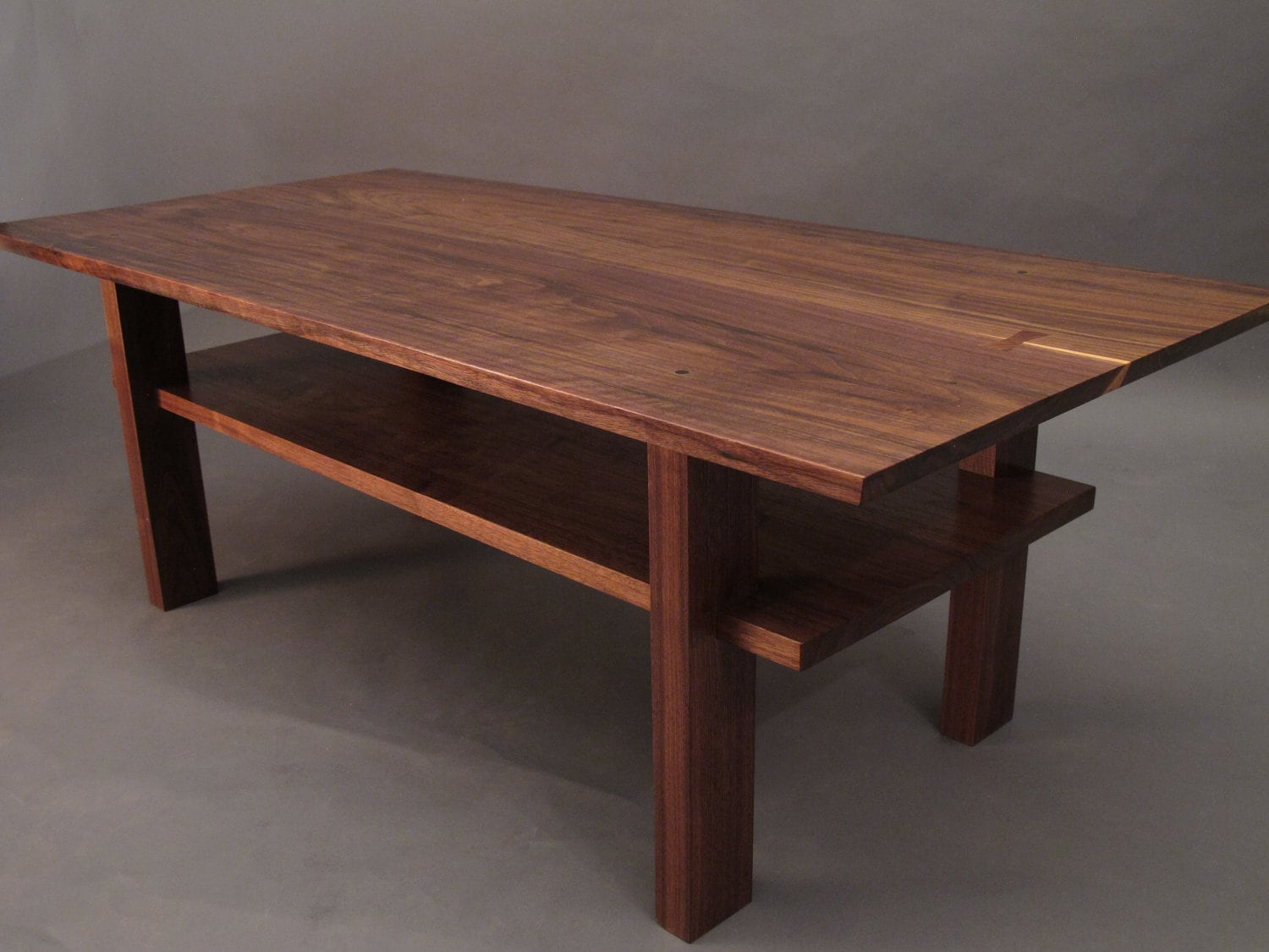 Walnut Coffee Table small wood tables for living room Narrow