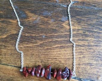 """Delicate jasper 16"""" necklace"""