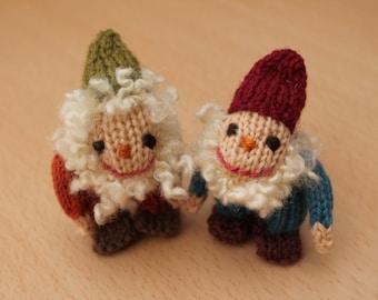 Zwerge, German gnome knitting pattern PDF
