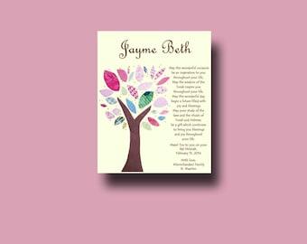 Bat Mitzvah Gift, Bar Mitzvah Gift, Personalized Jewish gift, Jewish Gift, Jewish Keepsake, Jewish Print