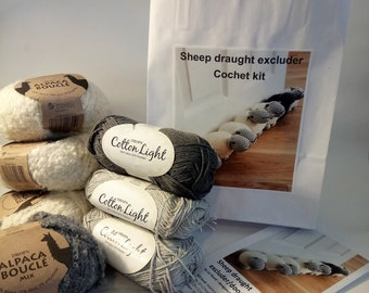 Sheep draught excluder crochet kit