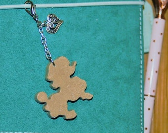 Gold Resin Poodle Charm