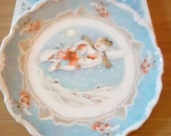 """Royal Doulton The Snowman Plate """"walking in the air"""""""