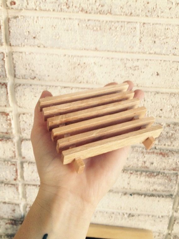 WOODEN SOAP DISH {Allows Your Natural Soap to Dry & Last Longer}{Pair with Soap for a Nice Gift}
