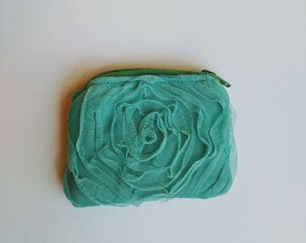 Rose Lace Coin Pouch