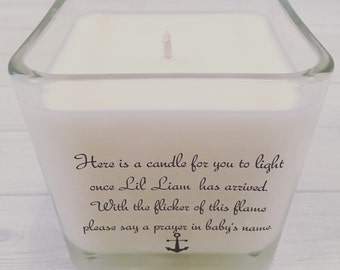 FREE SHIPPING Personalized Baby Name Poem Soy Candle - Baby Shower Favor