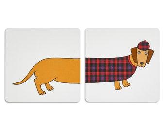 Larry Long Dog Coasters - Douglas