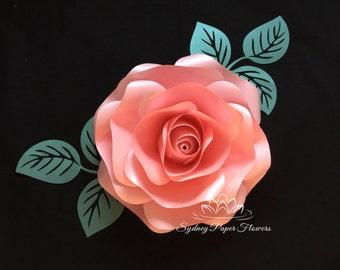 Paper flower ROSE/Paper flower wall/Paper flower backdrop/Wedding backdrop/Baby shower/Bridal shower/Christening/Birthday party/Sweet 16