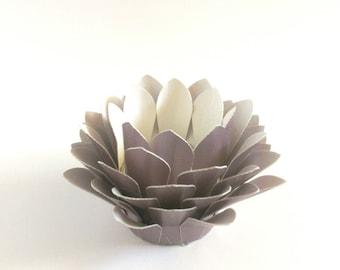 Paper Lotus Lantern -Metallic Lavender-