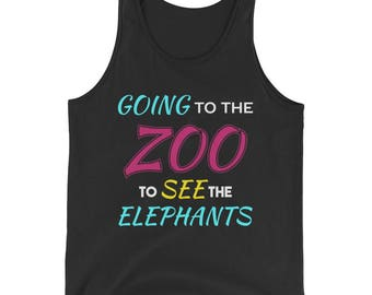 Going to the Zoo to See the Elephants Tank Top