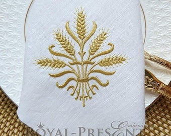 Machine Embroidery Design Gold spikelets