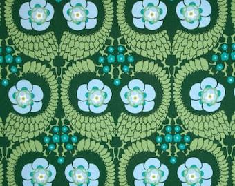 "Amy Butler, Violette, French Twist in Pine, SATEEN, Designer Home Dec, 55"" Wide, Green Home Dec Fabric, Half Yard, 18"", SAAB015.8PINE"